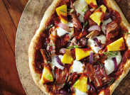 Hawaiian Pulled Pork Barbecue Pizza